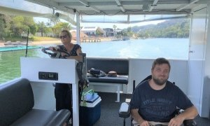Accessible Pontoon Boat